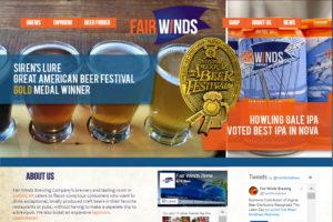 Fair Winds Brewery Website Design