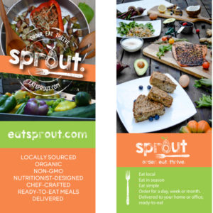 Eat Sprout Rack Card
