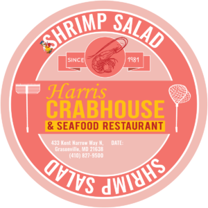 Harris Crab House Food Label